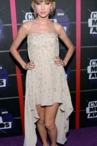 Taylor también se veía con las piernas muy gruesas. Foto:vía Getty Images