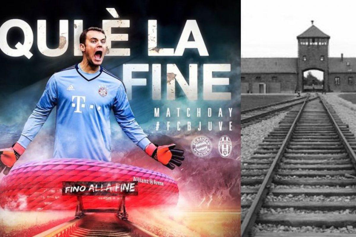 Esta es la imagen que ofendió a algunos hinchas de Juventus Foto:Twitter