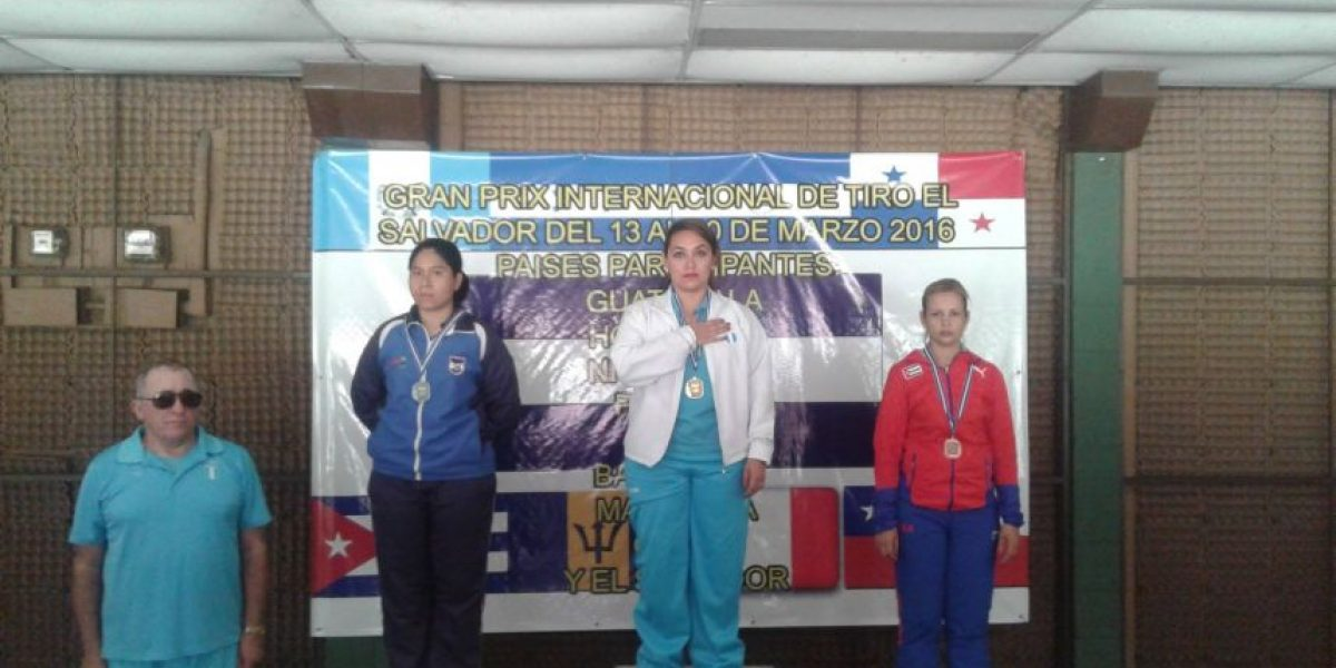 Equipo nacional de tiro gana medallas en Grand Prix Internacional de El Salvador