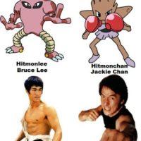 """Los Pokémon """"Hitmonchan"""" y """"Hitmonlee"""" están inspirados en Jackie Chan y Bruce Lee. Foto:Twitter"""