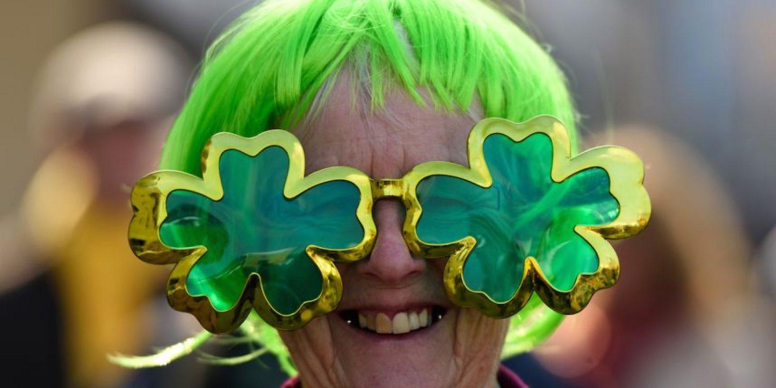 Asistentes al Cheltenham Festival (Reino Unido) durante la celebración del Día de San Patricio Foto:Getty Images