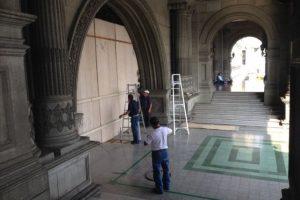 El Palacio Nacional de la Cultura es cerrado. Foto:Cortesía