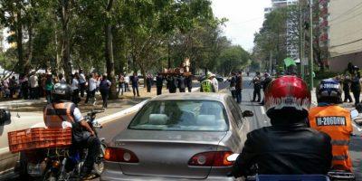 Fotos. Señor Sepultado bendice a los automovilistas en avenida Las Américas