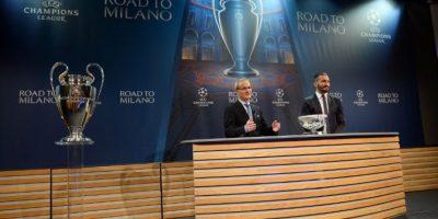 El exfutbolista italiano fue el encargado del polémico sorteo de los cuartos de final de la Champions League Foto:AFP