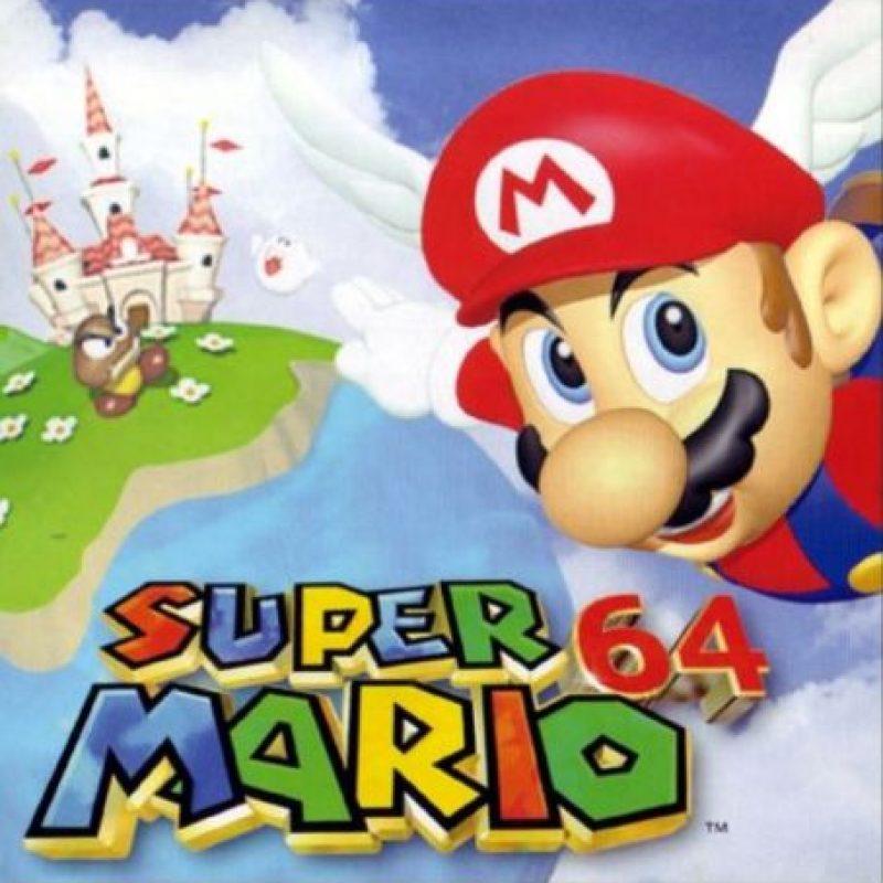 """3.- """"Super Mario 64"""" para Nintendo 64. Foto:Nintendo"""