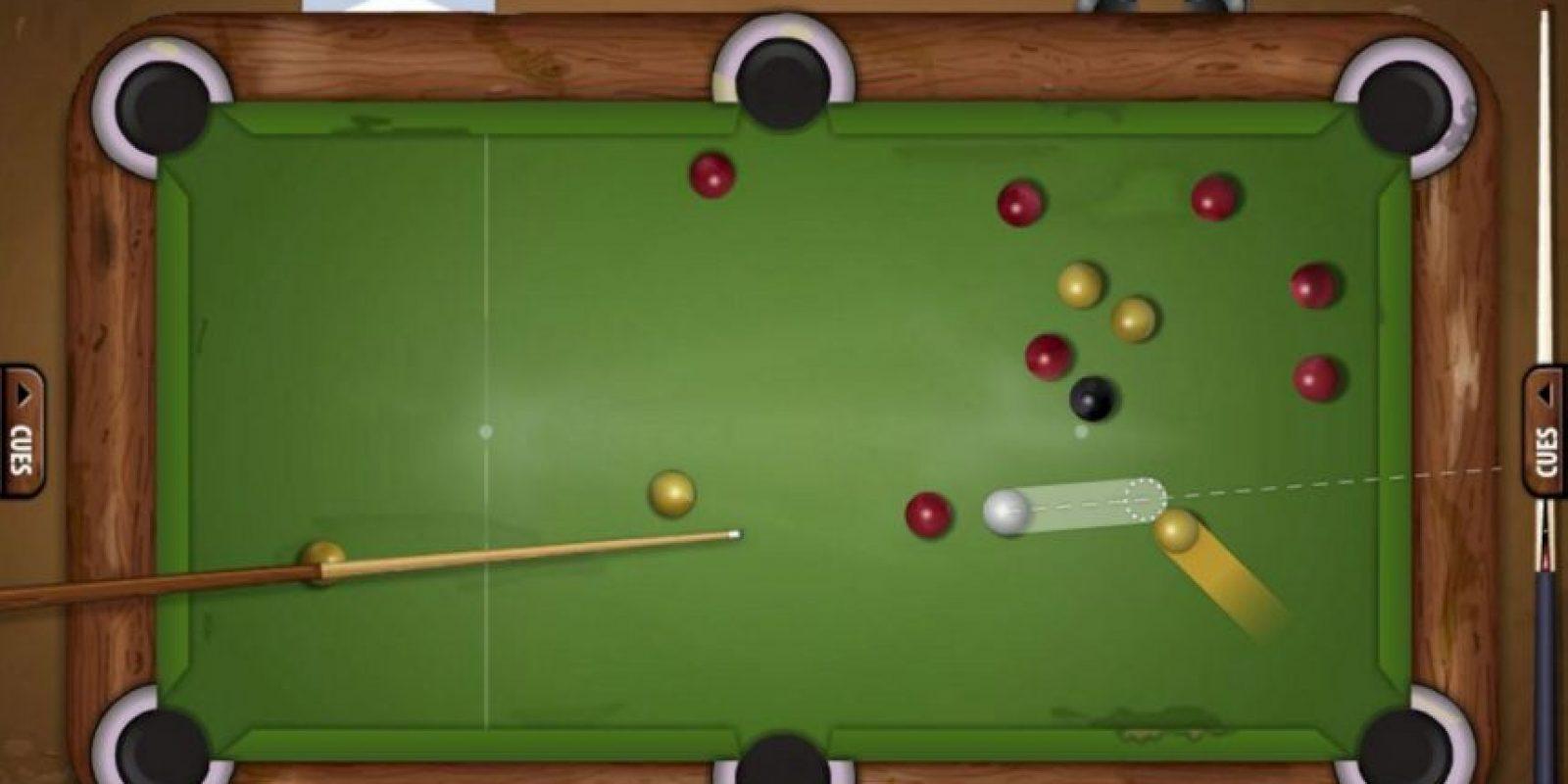 Pool Live Tour es un simulador de billar con el que podrás enfrentarte con otros usuarios de la red. Foto:Geewa