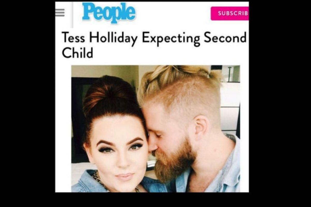 Y va a tener su segundo hijo. Foto:vía Instagram/tessholliday