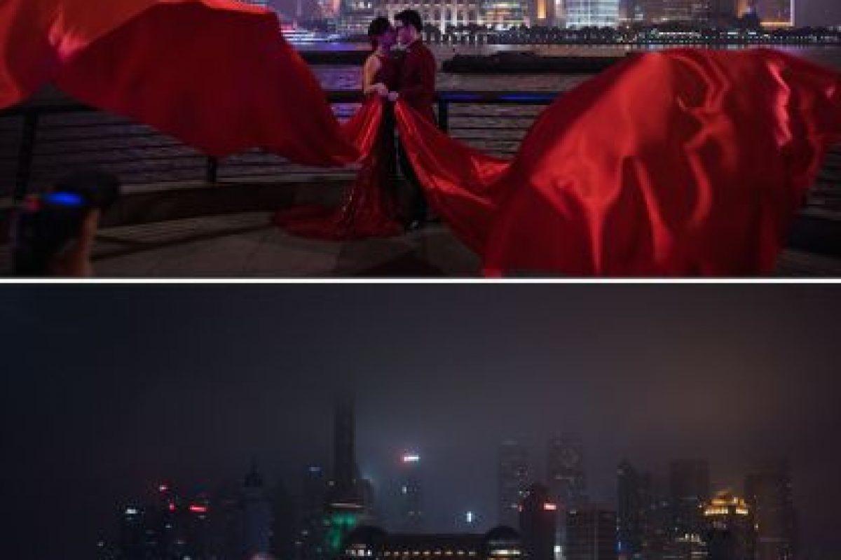 El perfil de la ciudad de Shanghai Foto:AFP