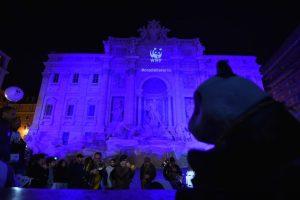 La Fontana de Trevi en Italia Foto:AFP