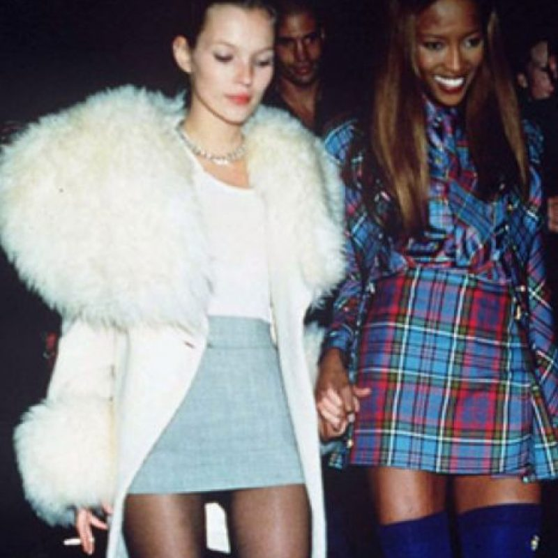 Kate Moss en fur. Foto: vía Getty Images