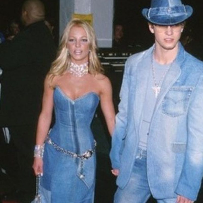 Britney y Justin en dénim. Foto: vía Getty Images