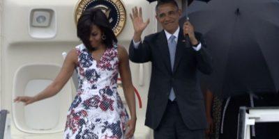 Fue acompañado por su esposa Michelle Obama Foto:AFP