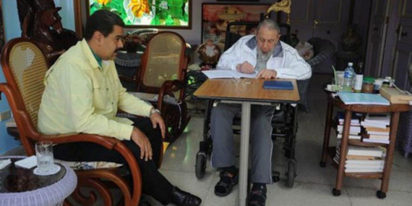 """Además, señaló que Fidel Castro es """"la persona más informada del mundo. Sabe como el que más"""" Foto:Granma.cu / Juventud Rebelde"""
