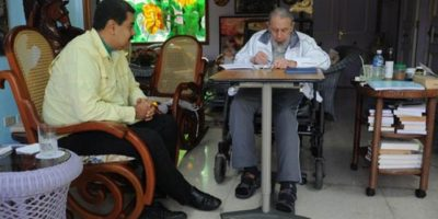 """""""Cuando llegamos estaba corrigiendo un texto"""", dijo Maduro Foto:Granma.cu / Juventud Rebelde"""