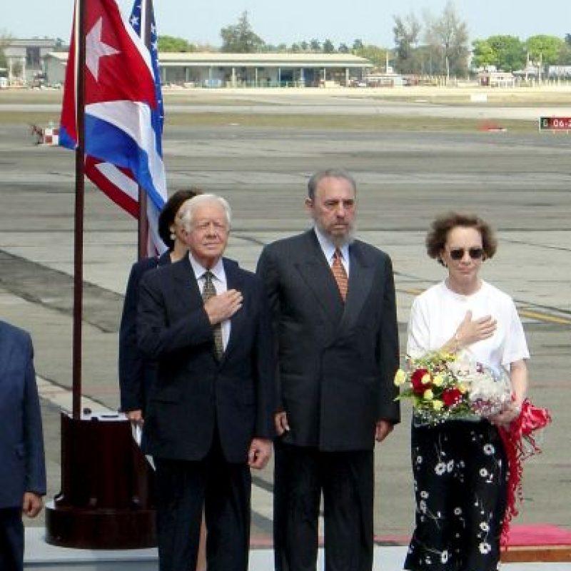 Es el primer presidente en funciones en llegar a la isla. En 2002, el expresidente Jimmy Carter (1977-1981) visitó la isla por invitación de Fidel Castro. Foto:Getty Images