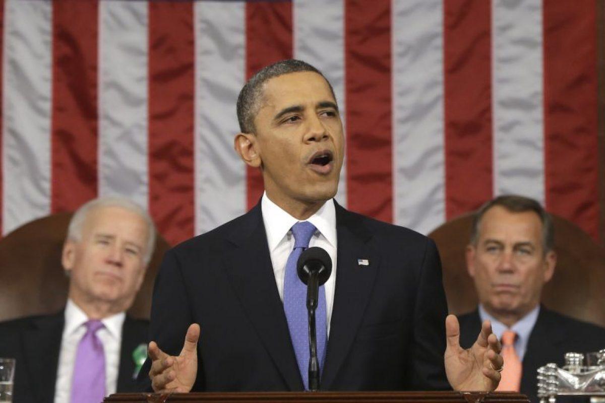 Pero si el primer presidente del Partido Democrata que lo haga. Foto:Getty Images