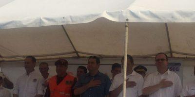 Presidente Jimmy Morales inaugura campamento en la playa del Puerto San José