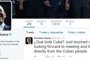 """Mediante su cuenta de Twitter publicó: """"Que bolá Cuba? acabamos de aterrizar. Buscamos reunirnos y escuchar directamente al pueblo cubano"""". Foto:AFP"""