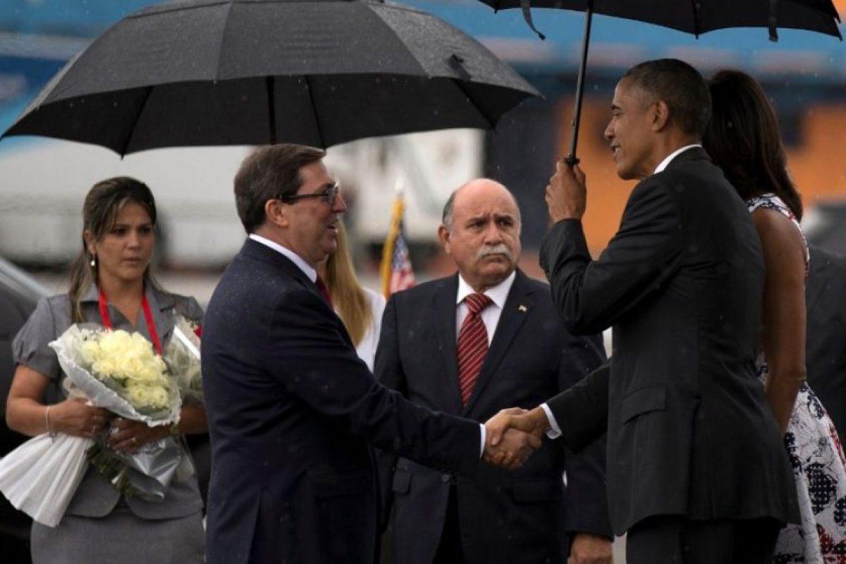 Fue recibido por el canciller cubano, Bruno Rodríguez Parrilla. Foto:AFP