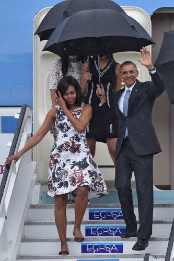 1. Barack Obama y su familia llegaron a Cuba en el Air Force One, que aterrizó a las 16:19 hora local Foto: AFP