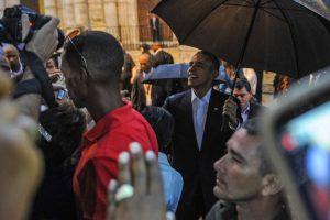 6. Donde tuvieron un breve encuentro con el pueblo cubano Foto:AFP
