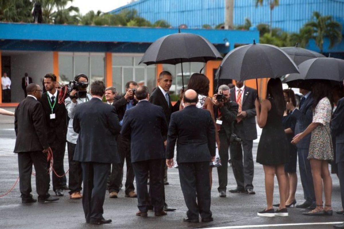 El cual aterrizó en el aeropuerto internacional José Martí de La Habana a las 16:19 horas, tiempo local. Foto:AFP