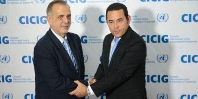 Presidente Jimmy Morales y el jefe de la CICIG, Iván Velásquez, viajarán juntos a la ONU en abril