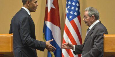 Después de una reunión privada casi dos horas ambos ofrecieron una conferencia de prensa. Foto:AP