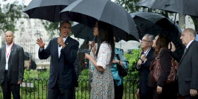 Esto lo hizo acompañado de su familia. Foto:Getty Images