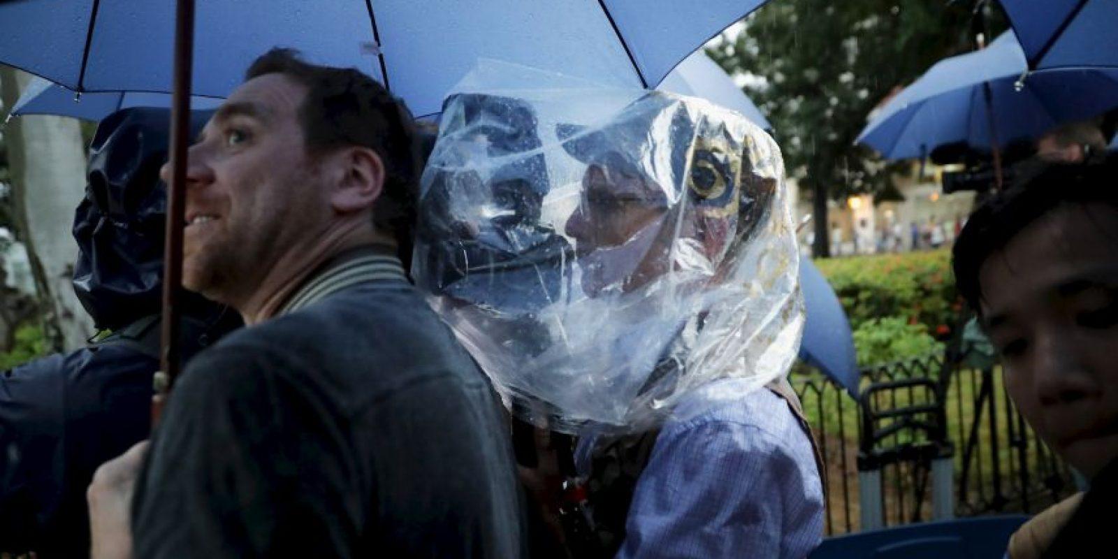 8. La prensa hizo hasta lo imposible por no perder detalle alguno Foto:Getty Images