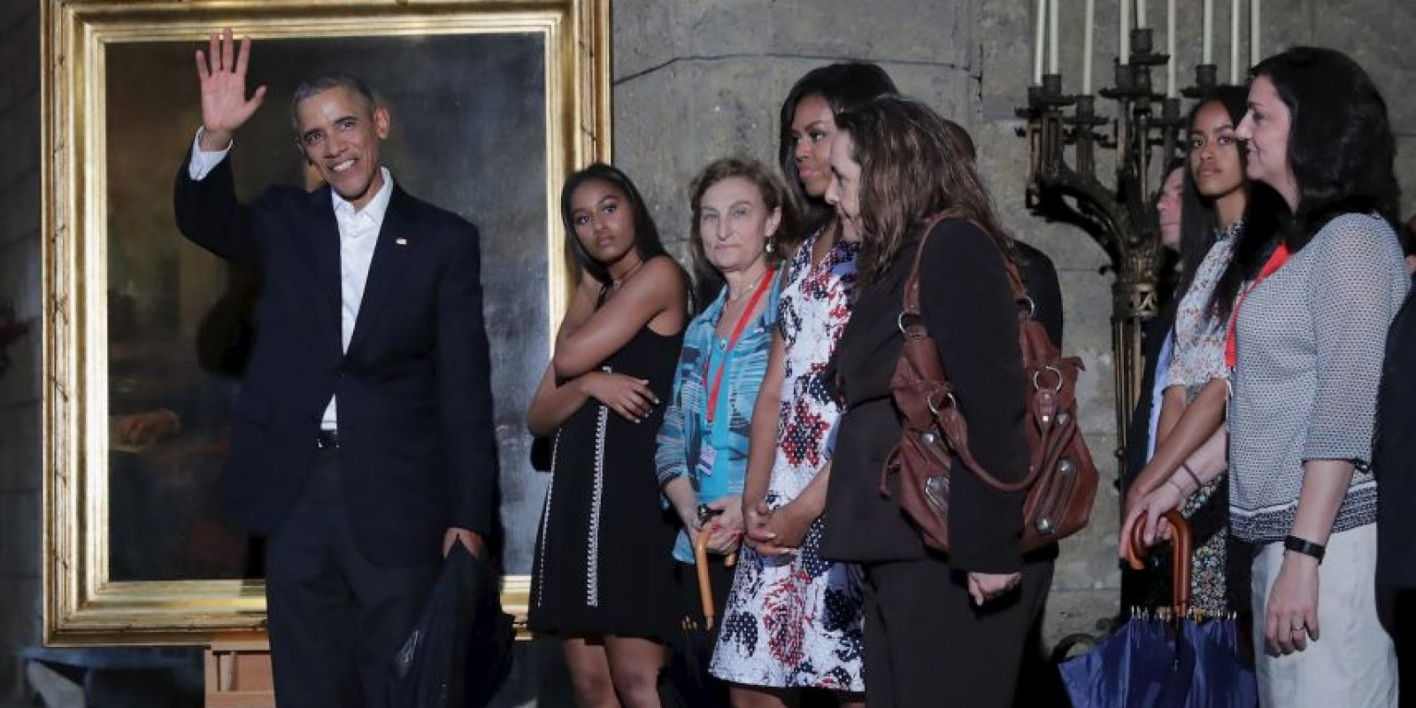 A su llegada el mandatario visitó la Habana Vieja Foto:Getty Images