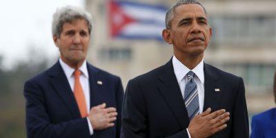 En ambos eventos la bandera estadounidense y el himno del país se hicieron presentes. Foto:Getty Images