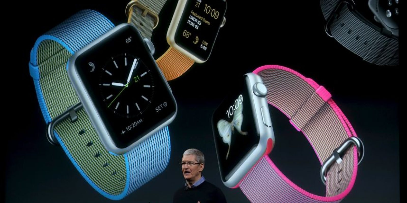 Imágenes de la presentación del Apple Foto:Getty Images