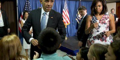 9. En la embajada de Estados Unidos en Cuba, conocieron a los hijos de los trabajadores, con quienes intercambiaron unas palabras Foto:AP