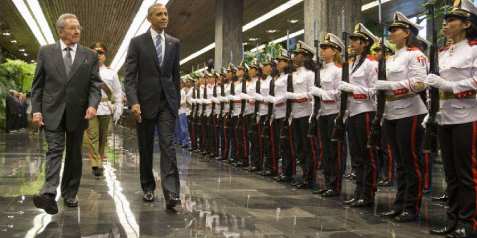 Encuentro entre Castro y Obama Foto:AP