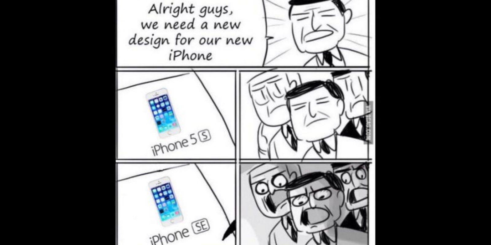 """""""Ok chicos, necesitamos ver le nuevo diseño del nuevo iPhone"""" Foto:Twitter"""