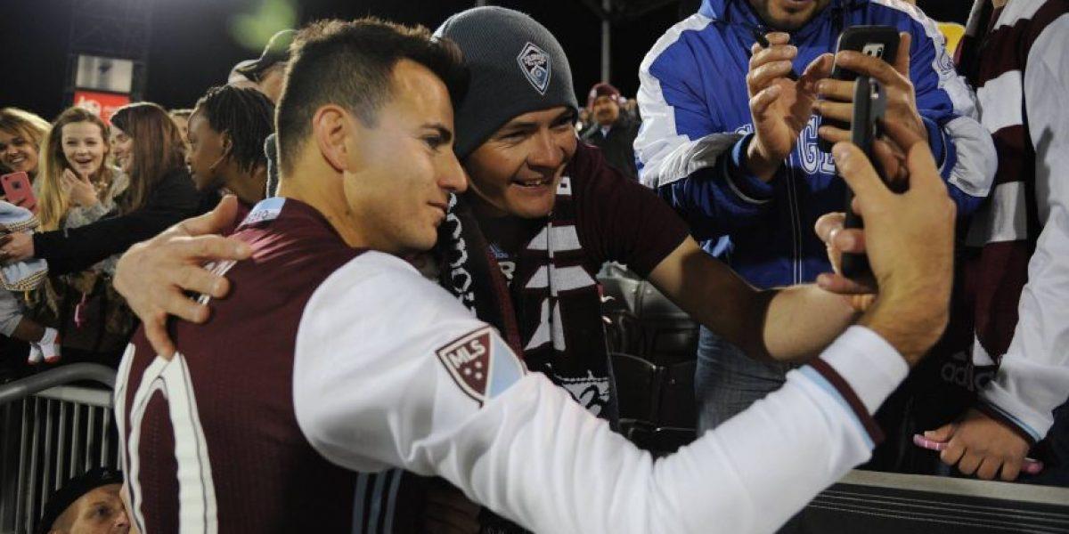 El Colorado Rapids le desea buena suerte a su jugador Marco Pappa en el juego ante Estados Unidos