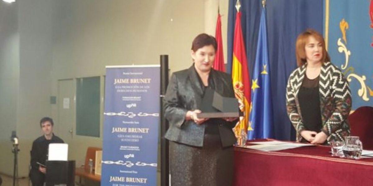Fiscal General Thelma Aldana es premiada en España