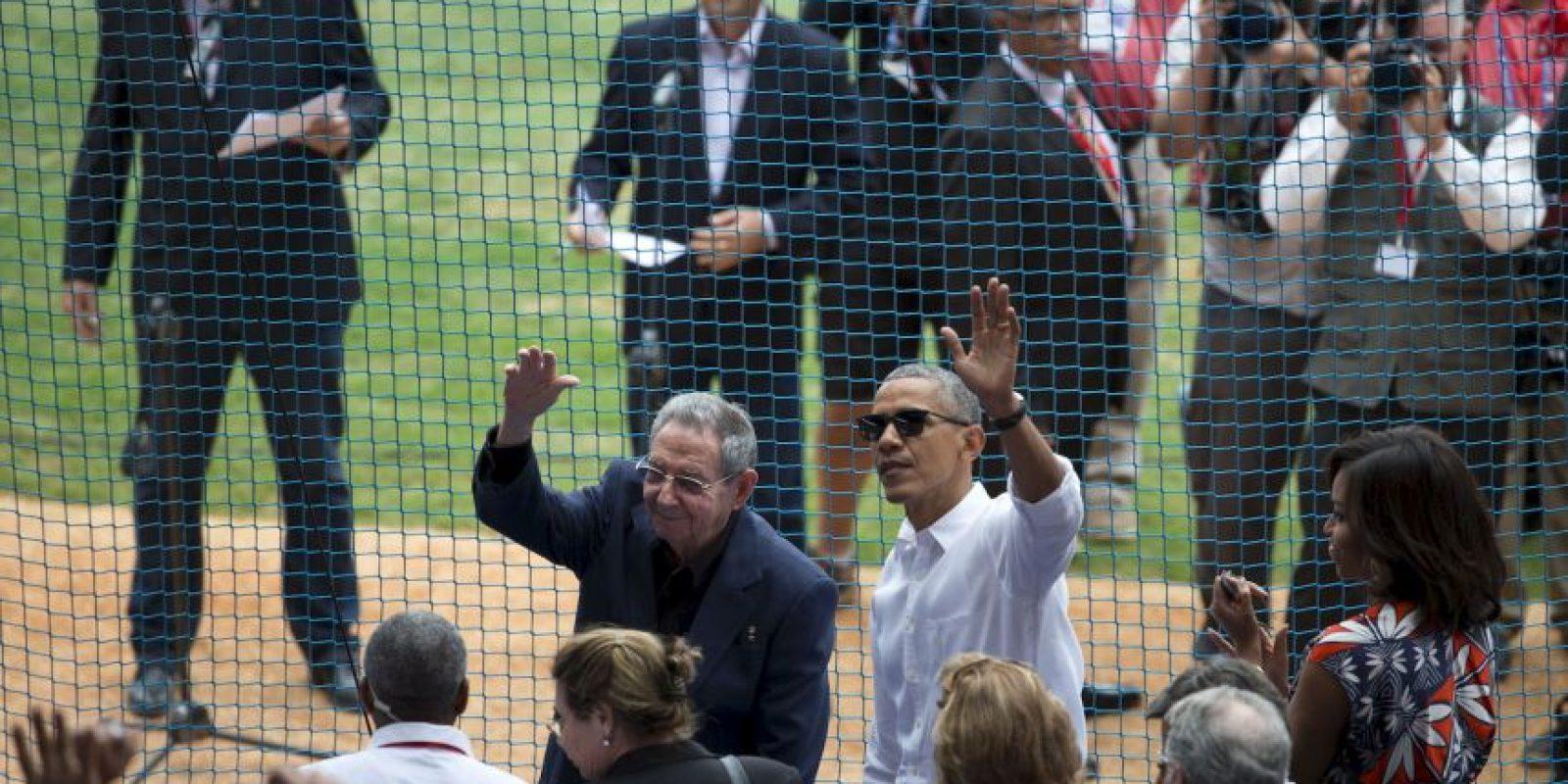 Obama y el partido de béisbol Foto:AP