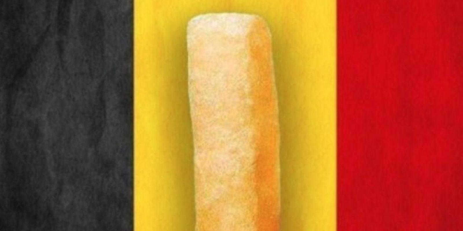"En Bélgica esta frase significa: ""Mantener el ánimo a pesar de todo"" Foto:Vía Twitter/Le HuffPost"