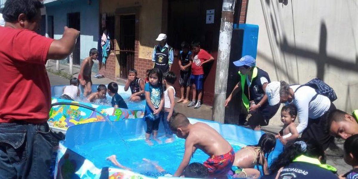 Vecinos de El Milagro, en Mixco, disfrutan de un