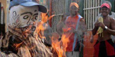 La quema de Judas Iscariote, el traidor