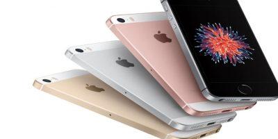 Diferentes colores del iPhone SE. Foto:Apple