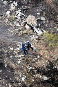 Hasta que fue estrelló en los Alpes franceses. Foto:AFP