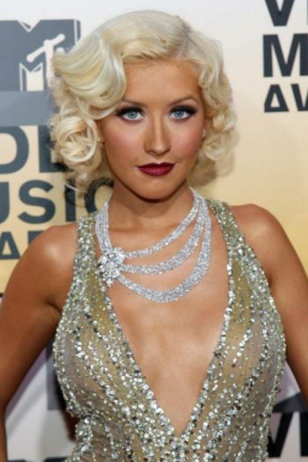 Y para 2007 era la versión mega maquillada de Marilyn Monroe. Foto:vía Getty Images