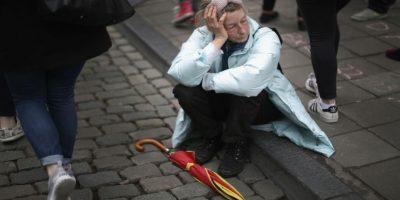 La policía continúa buscando a uno de los atacantes. Foto:Getty Images
