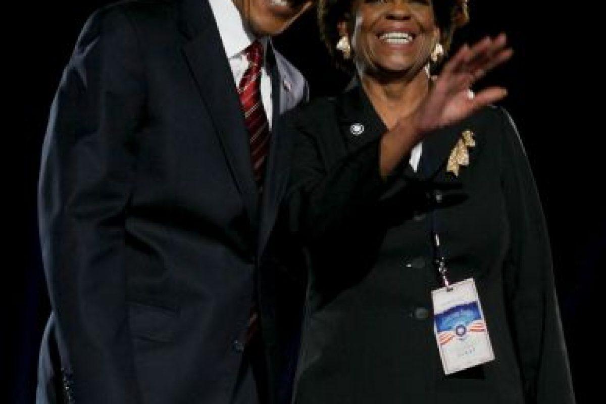 Mrs R y los Obama. Foto:Getty Images