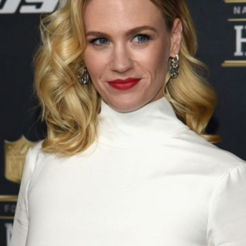 "January Jones, de ""Mad Men"", es madre soltera. Foto: vía Getty Images"