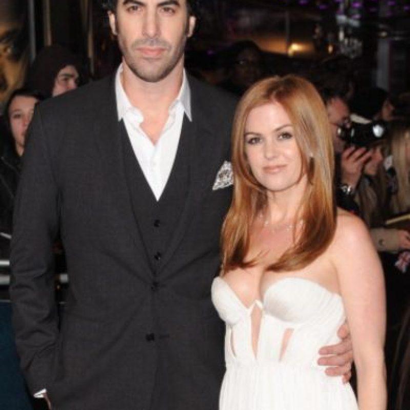 Isla Fisher tiene tres hijos con Sacha Baron Cohen. Foto:vía Getty Images