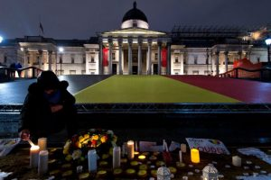 Las muestras de solidadridad con las víctimas de los atentados en Bruselas. Foto:Getty Images
